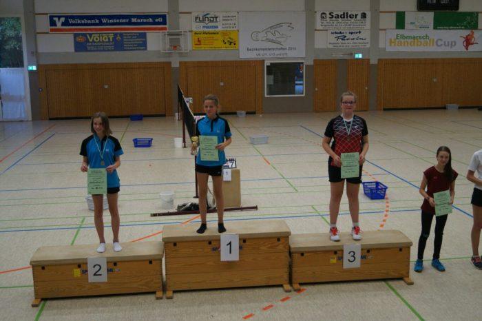 ME U15: 1. Platz: Sarah Werner, 2. Platz: Jette Schwalm, 3. Platz: Caroline Dau