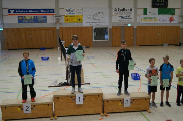 JE U15: 1. Platz: Hannes Weinholz, 2. Platz: Marvin Koch, 3. Platz: Marc Kaiser, 4. Platz: Samuel Niethe, 5. Platz: Raven Berg