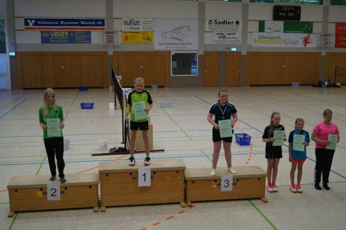 ME U13: 1. Platz: Theresa Six, 5. Platz: Sarah Lau